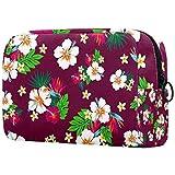 Bolsa de cosméticos con impresión hawaiana adorable, espaciosa, bolsa de maquillaje, bolsa de aseo de viaje, organizador de accesorios Color03 7'x3'x5'