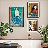 paglutaw Henri Matisse Abstracto Lienzo Pintura Vintage Mujer Arte Cartel Impresión Nórdica Pared Fotos Cuadros Sala De Estar Decoración 40x60cm Inner_Framed