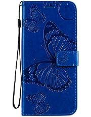 Hoesje voor Xiaomi Mi 10 PU Lederen Flip Cover Notebook Portemonnee Telefoonhoesje met Magnetische Sluiting Stand Card Houder ID Slot Folio voor Xiaomi Mi10 / Mi 10 Pro 5G - EYKT042471 blauw