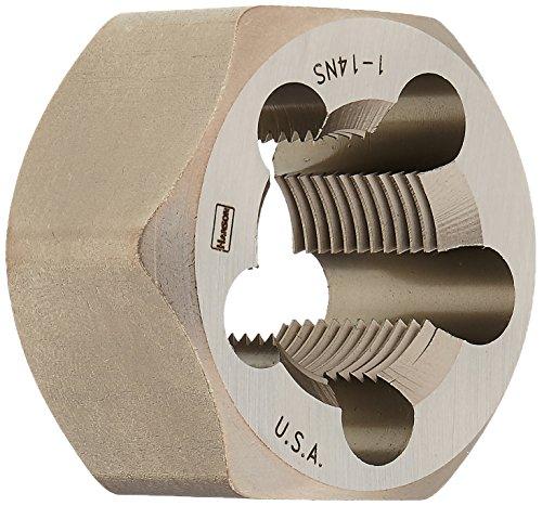 Irwin Tools 7267 Irwin High Carbon Steel Re-Threading Fractional Hexagon Dies - Die 1-14 Hrt Hanson