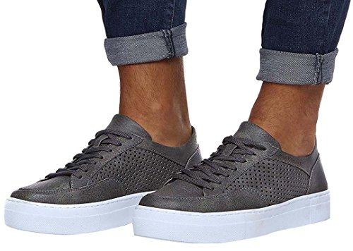 Leif Nelson Herren Schuhe Freizeitschuhe elegant Winter Sommer Freizeit Schuhe Männer Sneakers Sportschuhe Laufschuhe Halbschuhe LN154; Größe 41, Anthrazit