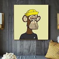 漫画の動物面白い退屈な猿 /DIY 油絵 数字 /によるペイント 大人・子供・初心者用 アクリルペイント 数字による絵画 絵画 キット /自宅 壁 リビングルーム ベッドルーム 装飾 /フレームレス