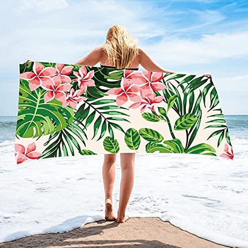 Toallas De Playa De La Serie De Impresión De Plantas, Toallas De Baño De Microfibra, Toallas Absorbentes De Secado Rápido, Toallas De Mantón con Protección Solar 75 * 150cm