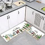 OPLJ Kaktus Fußmatte Flur Balkon Küchenteppich modernes