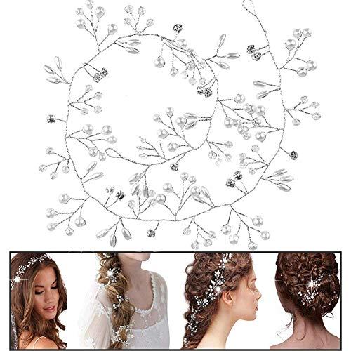 Haardraht Hochzeit Haarschmuck BETOY Haarschmuck Hochzeit Silber Kopfschmuck Braut Perle Strass Haarnadel Hochzeitsfest Mädchen und Frau