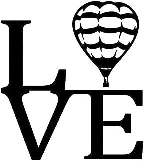 Wwwx 2Pcs 13X15Cm Love Hot Air Balloon Vinyl Decal Black Car Sticker Car-Styling