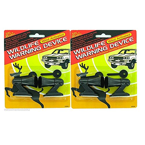 2 Packs Of Deer Whistles 4 pcs Wildlife Warning Devices Animal Alert Car Safety