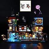 QJXF Juego De Luces USB Compatible con Muelles De Lego Ninjago City 70657, LED Light Kit para (Muelles) De Bloques De Creación De Modelos (No Incluido Modelo)