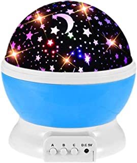 GZCY Multiple Colors 360 Degree Rotation Star Projector Night Lights for Kids