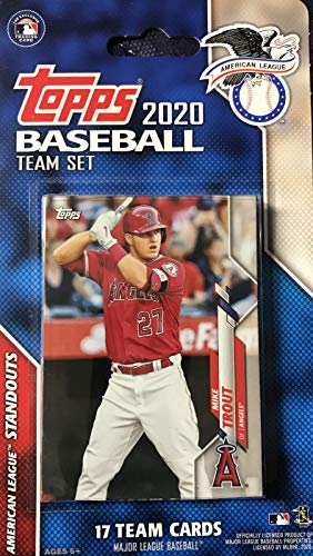 2020 Topps American League All Star Standouts Factory Sealed Limited Edition 17 Karten Team Set mit Mike Forelle, Aaron Judge, Gerrit Cole und Xander Bogaerts Plus