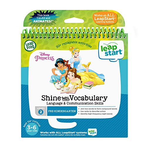 LeapFrog LeapStart 3D Disney Princess Shine with Vocabulary Book
