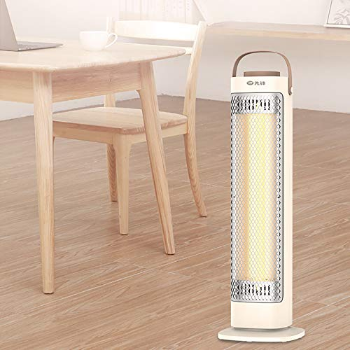 DYCLE Calentadores eléctricos de Patio de 800 vatios, Calentador de Torre de Infrarrojos de Fibra de Carbono con calefacción de Dos velocidades, Uso en Interiores o Jardines al Aire Libre