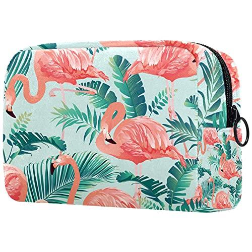 Linda bolsa de maquillaje de viaje, bolsa cosmética portátil, organizador de maquillaje para mujeres y niñas (pájaro y flor), Multicolor3, 18.5x7.5x13cm/7.3x3x5.1in, moderno