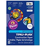 Tru-Ray Heavyweight Construction Paper, Blue,  9
