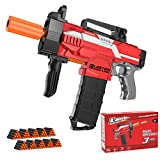 Holiky Automatic Toy Gun for Nerf Gun Bullets, 3 Burst Modes Toy Foam Blasters & Guns with 100pcs Soft Darts, Electric DIY Toy Guns for 6 7 8 9 10 Years Old Boys, Ideal Gun Toys Gifts for Kids Teens