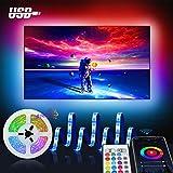 Smart LED Strip 3M, Maxcio USB Alexa TV Hintergrundbeleuchtung LED Streifen, Kompatibel mit Alexa Echo, Google Home, WIFI RGB Fernseher Beleuchtung Lichtband für 46-60 Zoll HDTV, PC Bildschirm