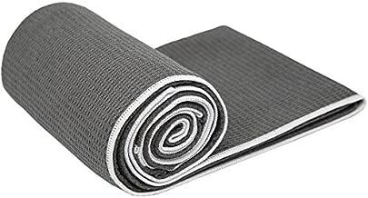 Shandali StickyfiberHot Yoga Towel - Silicone Backed Yoga Mat-Sized, Absorbent, Non-Slip, 24