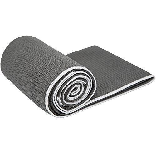 Shandali StickyfiberHot Yoga Towel - Silicone Backed Yoga Mat-Sized, Absorbent,...