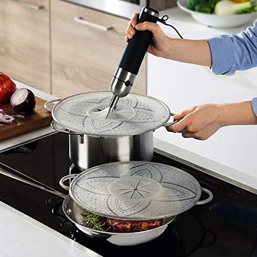 Hagen Grote Multi-Spritzschutz, Platinumsilikon, transparent, für Töpfe und Pfannen bis Ø 29 cm, temperaturbeständig von -20 bis +230 °C