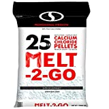 Snow Joe AZ-25-CCP Melt-2-Go 94% Pure Calcium Chloride Pellet Ice Melter, 25-lb Resealable Bag