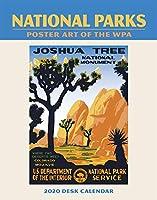 National Parks WPA イーゼル エンゲージメント カレンダー 2020 プランナー 5.5インチ x 7インチ スパイラル