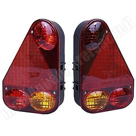 R/ücklicht F/ür Toyota Hilux Vigo 11 Nebelschlussleuchte Auto R/ücklicht R/ücklicht Blinker 2 ST/ÜCKE LED Bremslichter Auto Beleuchtung Zubeh/ör