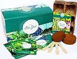 Set de cultivo de hierbas de té orgánico con 3 variedades de semillas de hierba, como menta verde, salvia y limón, set de regalo para cualquier ocasión, regalo ideal para hombres y mujeres.
