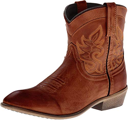 Dingo Women's Willie Cowgirl Boot Round Toe Brown 8 M US