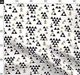 Gold Glitter, Dreieck, Schwarz Und Weiß, Tipi, Gold Stoffe