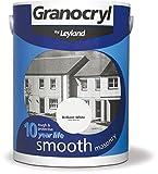 Leyland 303140 Granocryl Smooth Masonry, Brilliant White, 5 Litre