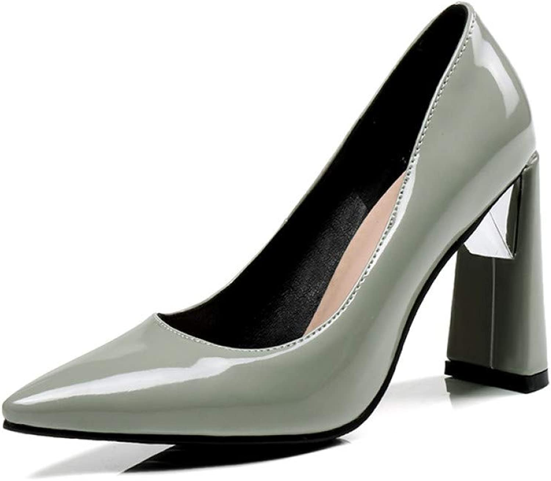 Ai Ya-liangxie Frauen Pumpen Pumpen Pumpen Patent Pu Seltsame Style Schuhe Flache Schuhe Fashion High Heels Party Damen Schuhe  224249