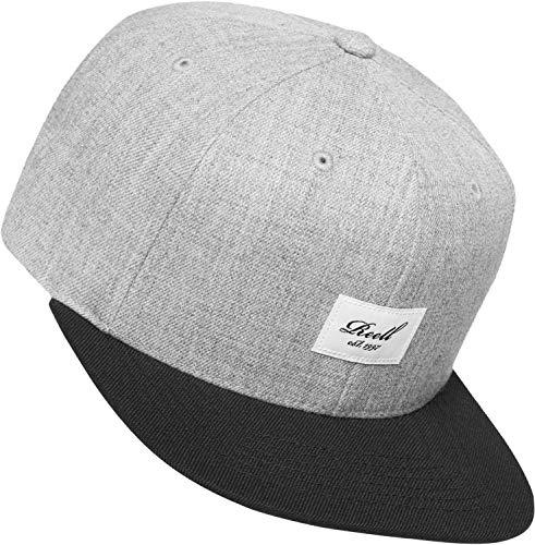 Reell Jeans Herren Snapback Caps Pitchout grau Verstellbar