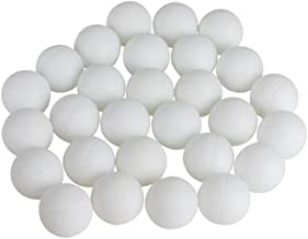 Kicko Plastic Balls-144 Pack-1.5 Inch Smooth and Round White Balls for Ping Pong, Table Tennis, Beer Pong, Goldfish Carnival Game, Educational Party Favors, Early Development Toys, Event Decorations