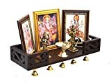 Product Dimensions: Length (45.7 cm), Width (15.2 cm), Height (8.8 cm) A perfect decor for your divine space. this alluring temple nook made from solid wood and crafted with the most exquisite hand painted work, Rich colours used for beautiful contra...