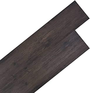 vidaXL 18x Lamina Suelo 5,26m² PVC 2mm Roble Gris Oscuro
