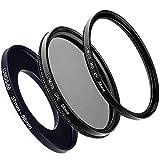 Juego de filtros de 58 mm para Olympus M.Zuiko de 14-42 mm y 40-150 mm, por ejemplo para OM-D E-M10 E-M5 Pen E-PL7, Lumos Flex 58 mm lente de cámara accesorios con anillo Step Up