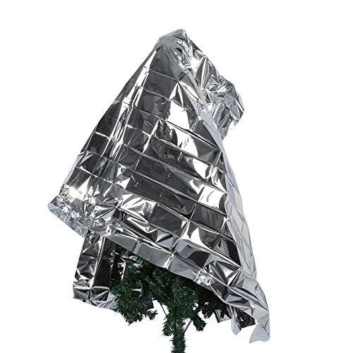 Ausla Pflanzen Reflektierende Folie, Silber Tragbare Starke Lichtdurchlässigkeit PETP 210 X 120 cm / 82,68 X 47,24 Zoll Reflektierende -Folie für Zuhause für den Garten