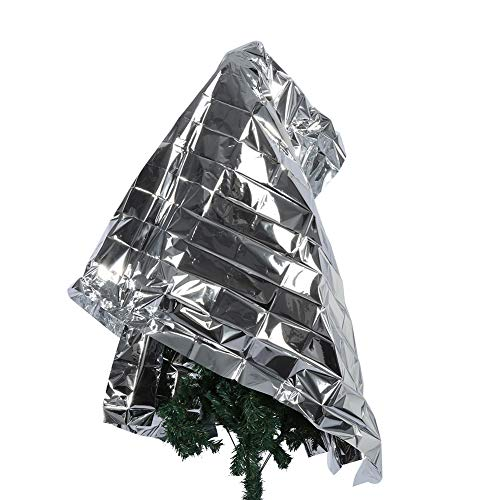 HERCHR 210 x 120cm Silver Plant Reflective Mylar Film, Garden Greenhouse Covering Foil Sheets Plant Grow Tent