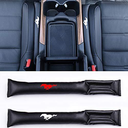 2pcs Autositz Gap Filler Space Pad Kunstleder für Ford Mustang Interior Zubehör,A