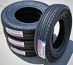 Set of 4 (FOUR) Transeagle ST Radial II Premium Trailer Radial Tires-ST225/75R15 225/75/15 225/75-15 117/112L Load Range E LRE 10-Ply BSW Black Side Wall