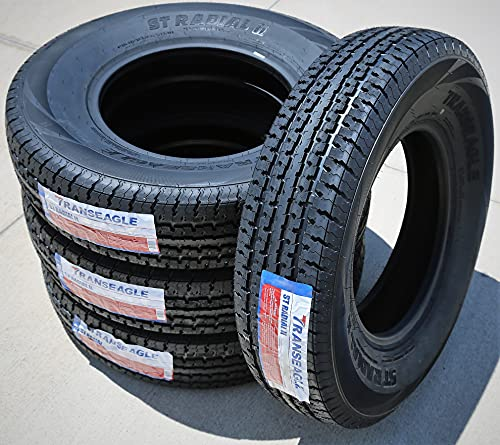 Set of 4 (FOUR) Transeagle ST Radial II Premium Trailer Radial Tires-ST225/75R15 225/75/15 225/75-15...
