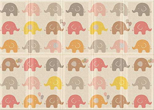 Parklon Folding Play Mat (78.7 x 55.1 x 0.4 inch) (Little Elephant)