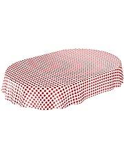 ANRO tafelkleed wastafelkleed tafelzeil tafelkleed Karo klassiek per meter rood