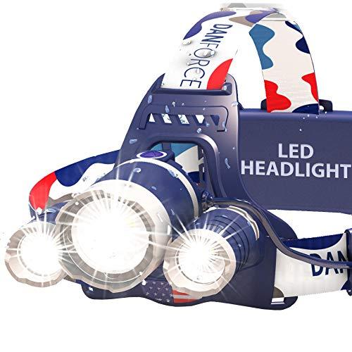 DanForce Bright LED Headlamp – American Made Head Flashlight – 3 Cree...