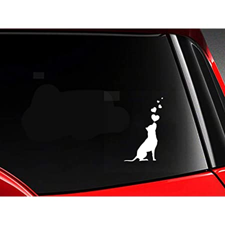 Amberdog Hunde American Staffordshire Terrier Stafford Autoaufkleber Kopf Fensterfolie Atk0113 Amstaff Aufkleber Küche Haushalt