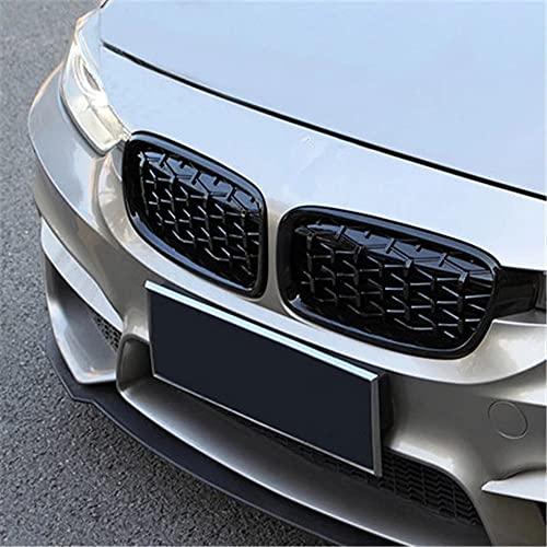 1 par 5 Series F10 Diamond Grille Style Meteor Front Black Border Carry Grill, Estilismo de Coche para F10 F18 520i 523i 525i 5
