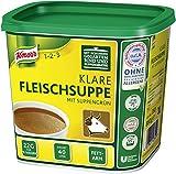 Knorr klare Fleischsuppe mit Suppengrün (Rinderbrühe nach bewährter Rezeptur) 1er Pack (1 x 0,88...