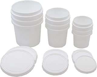 Superfos Vapor Lock HDPE Set of 3 sizes (Half-Pint, Pint, Quart) Containers and Lids Pack of 9