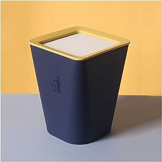 Commercial Waste Basket Nordic Flip Trash Can Household Living Room Kitchen Bathroom Paper Basket Bedroom Office Size Tras...