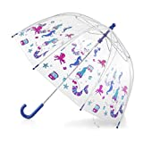 totes Kids Clear Bubble Umbrella, Ocean Princess